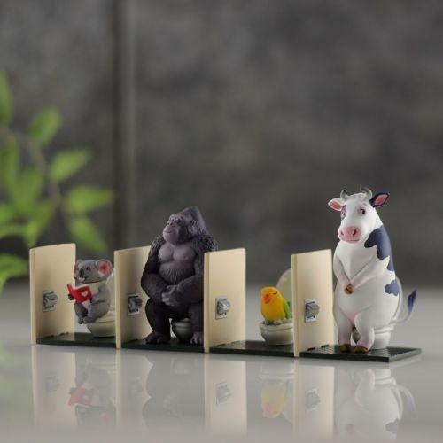 miniQ 佐藤邦雄の動物たち「トイレの時間2」 (1BOX6個入り)(22年1月発売)